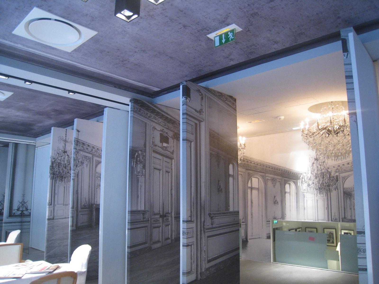 Plafond et mur tendu en textile Arketex